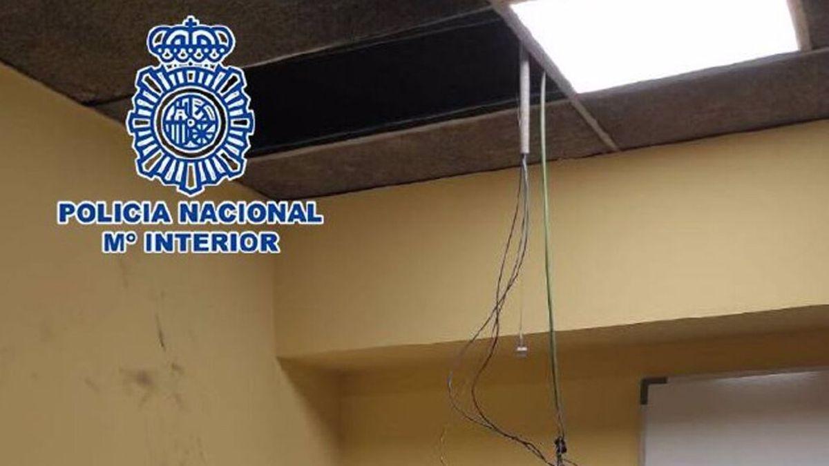 La policía libera a un ladrón que quedó atrapado dos días en un conducto de ventilación