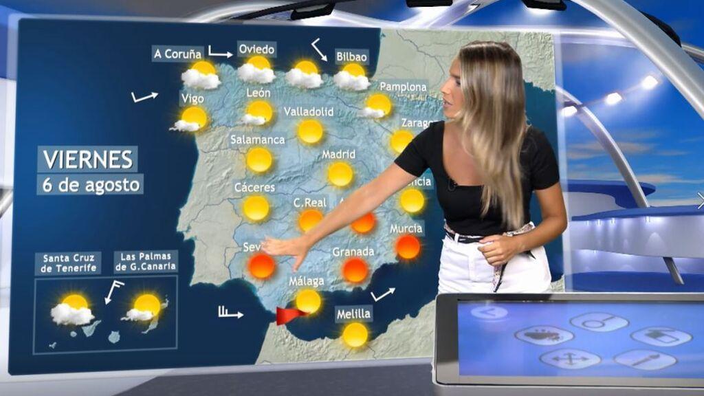 Suben las máximas en el sureste y Baleares, bajan en el norte y oeste: el tiempo que hará el viernes en España