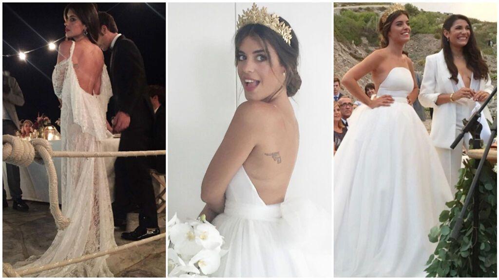 Los dos vestidos de novia de Dulceida con los que triunfó: diseñados por Ze García, con un toque romántico, con tul y escote en la espalda.