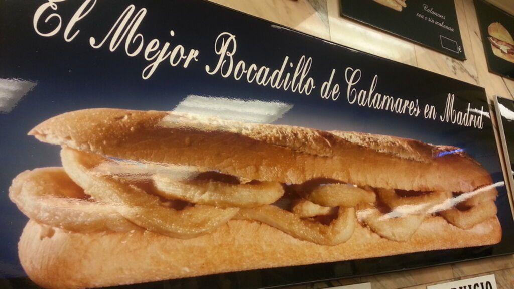 Bocadillo de calamares en Madrid