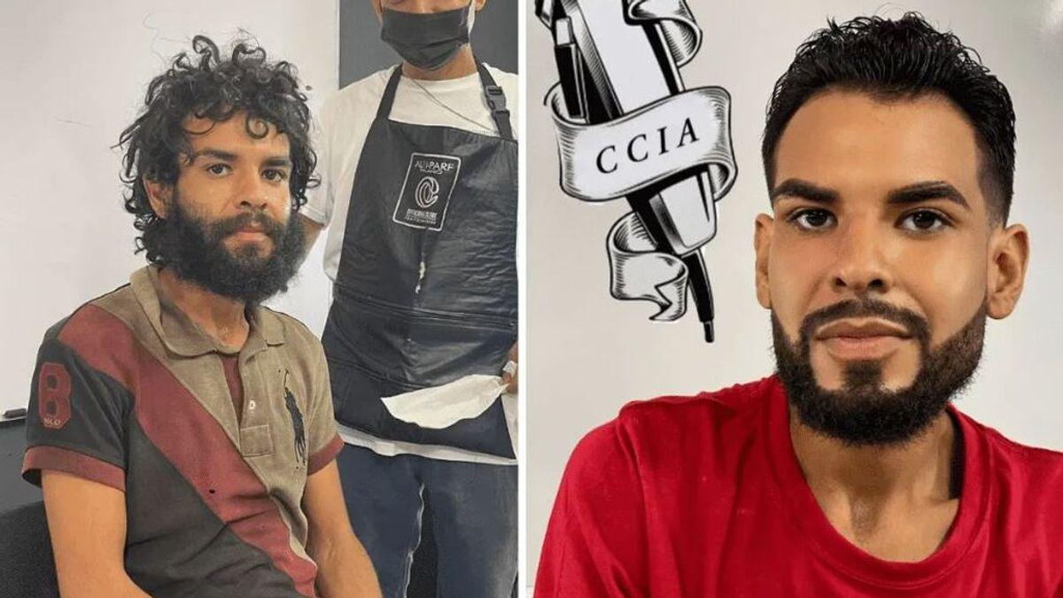 El cambio de look de un indigente en una barbería de México enamora a la Red
