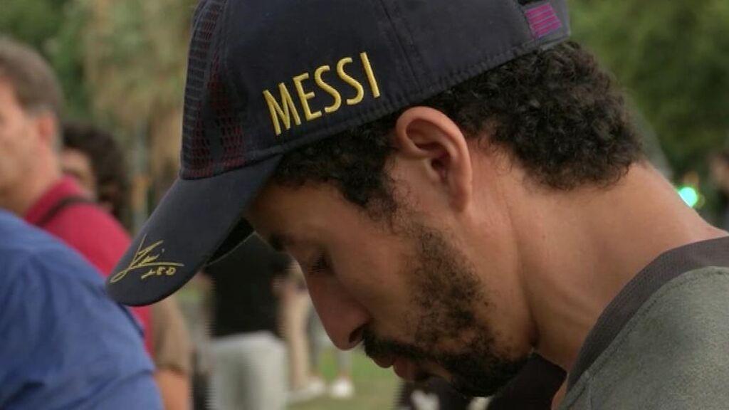 Tristeza entre los aficionados del Barcelona por la marcha de Leo Messi
