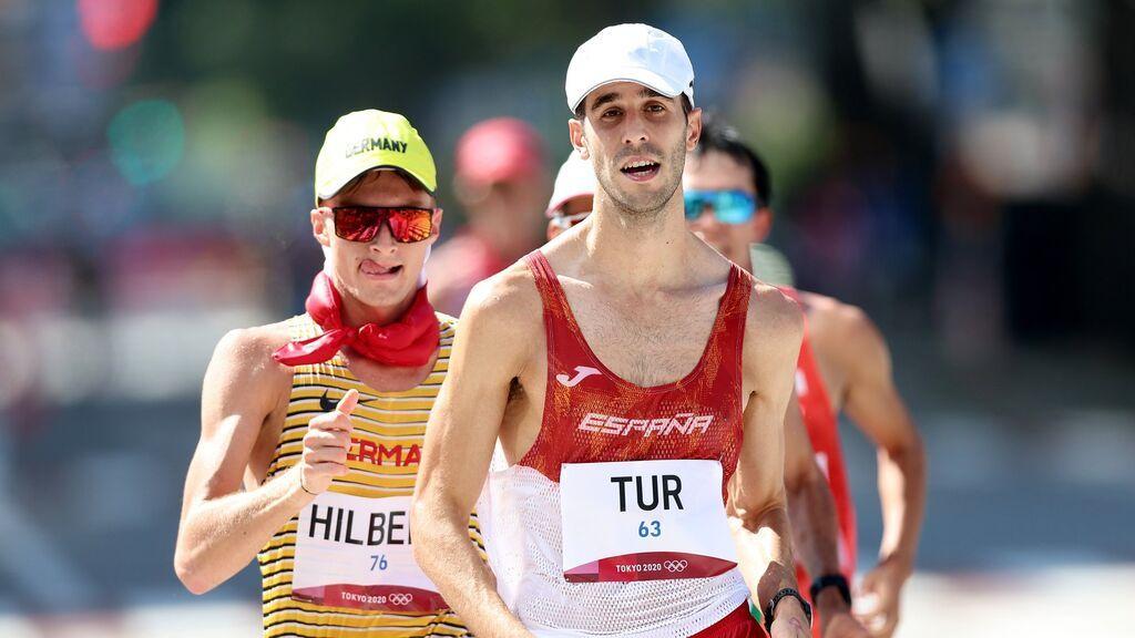 Marc Tur roza el podio y acaba cuarto en la prueba de 50 kilómetros marcha