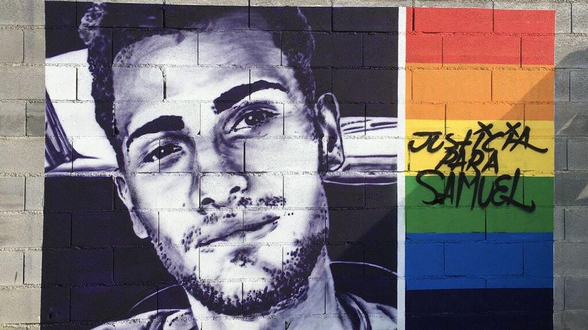 El mural, obra de Orde Caos, en recuerdo del joven Samuel
