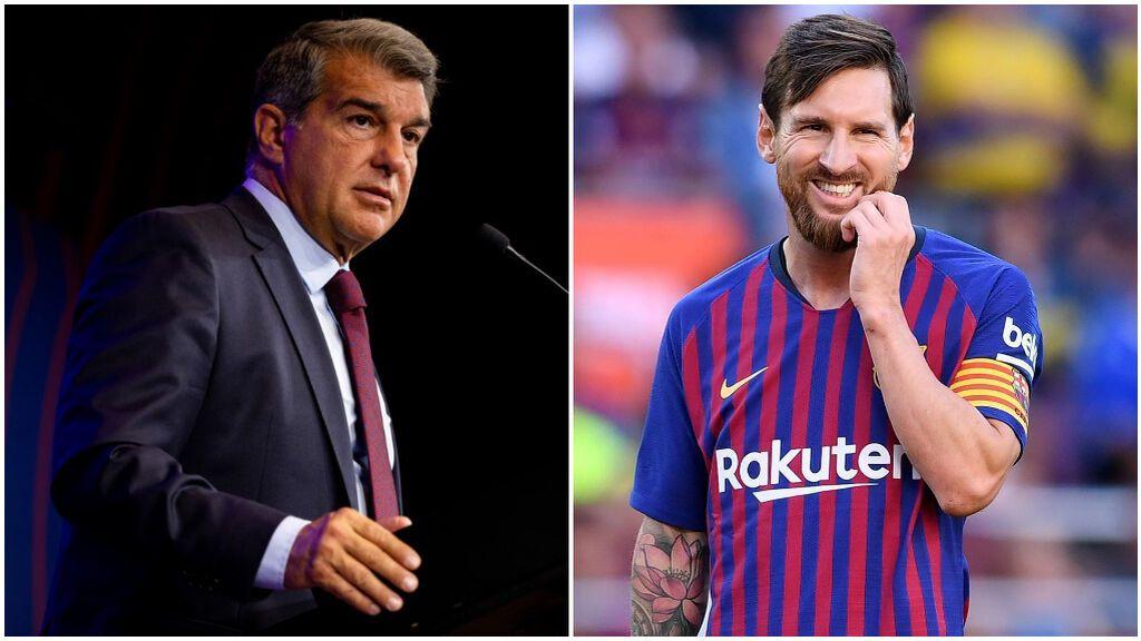 Laporta dio explicaciones sobre el adiós de Messi.