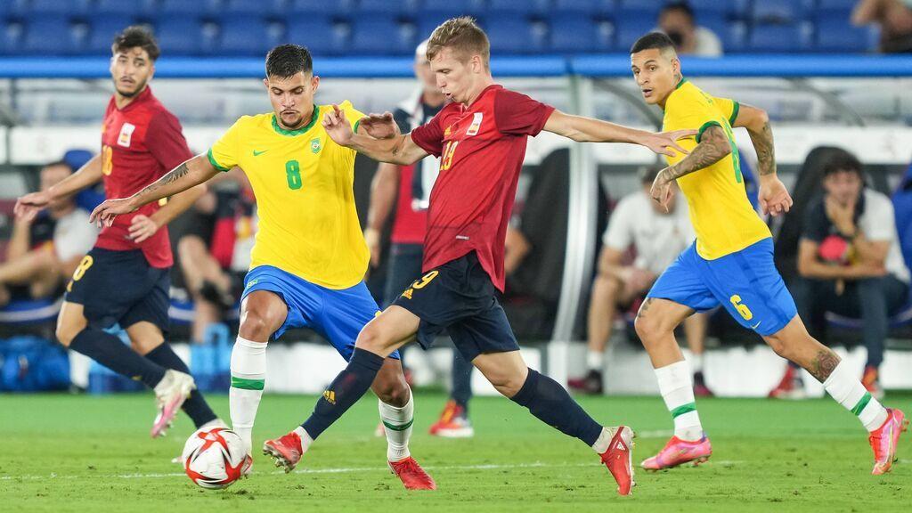 España cae ante Brasil en la prórroga: un gol de Malcon deja en plata el fútbol español (2-1)