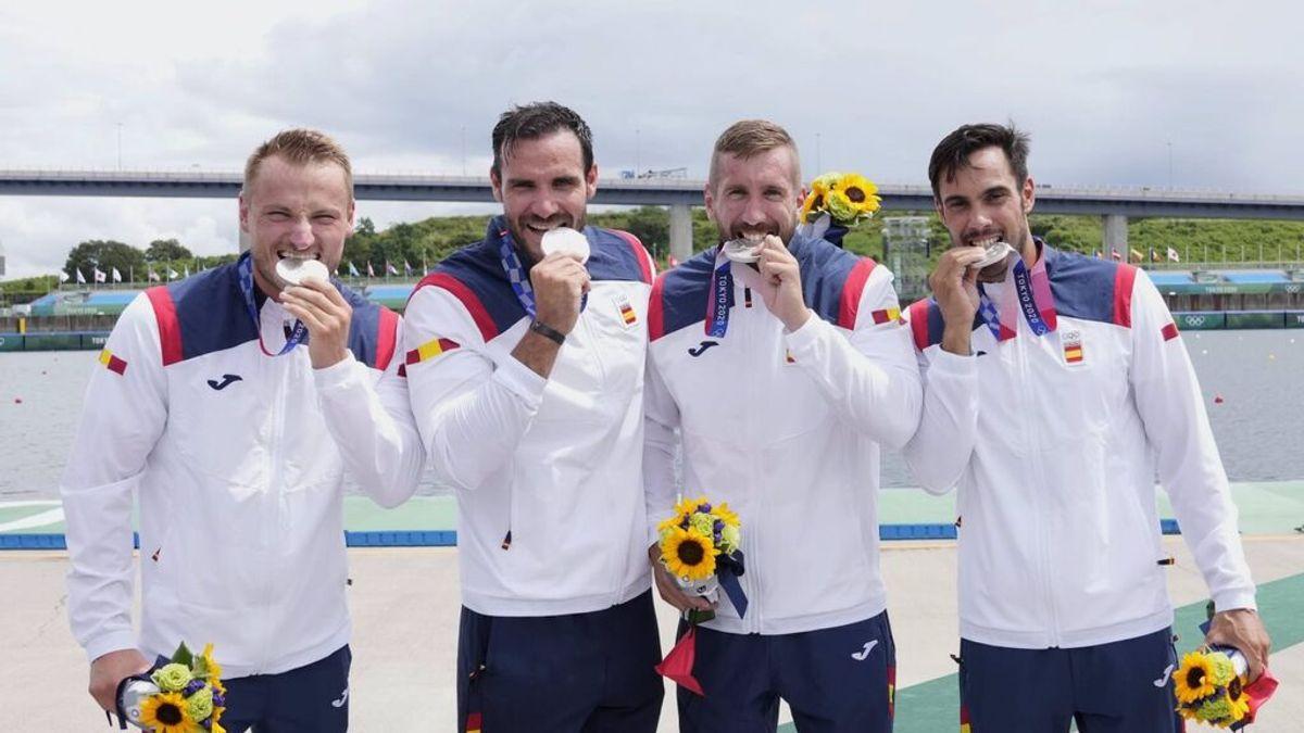 España se cuelga la plata en el K4 500 y Craviotto iguala a David Cal como deportista español con más medallas