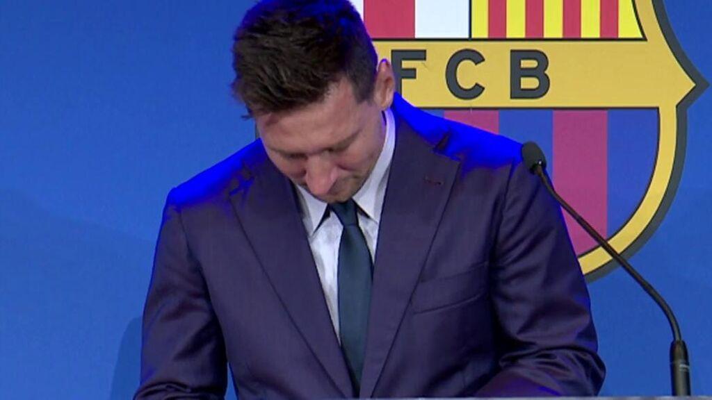 Messi se despide del Barça