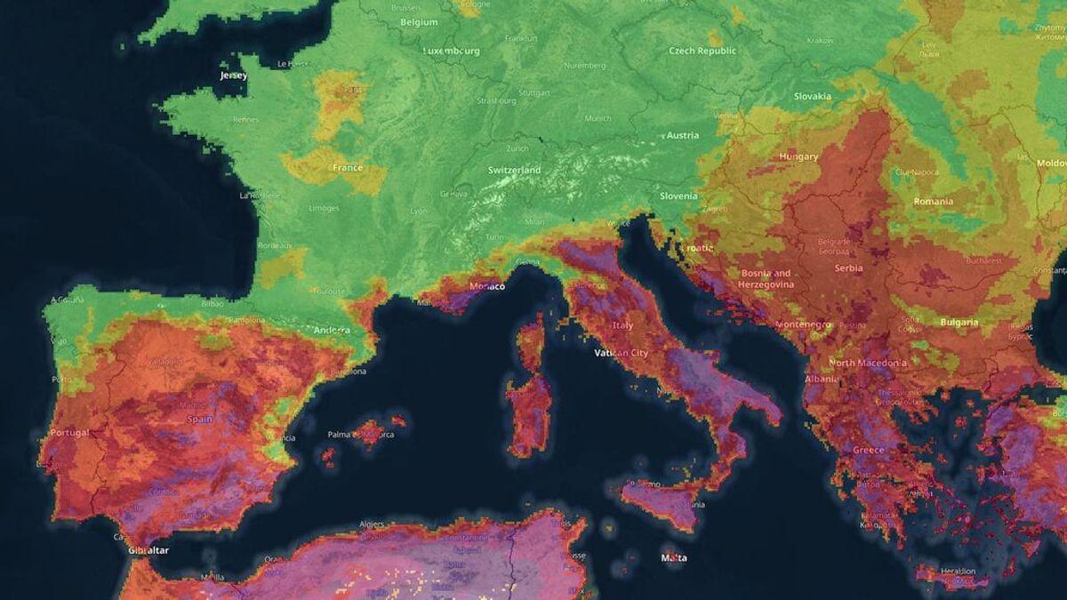 Una nueva ola de calor llega a Italia y pone en alerta a todo el país ante el peligro de más incendios