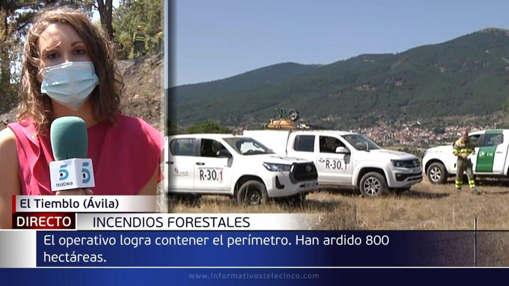 Castilla y León baja a nivel 1 de peligrosidad el incendio de El Tiemblo tras quemar 800 hectáreas
