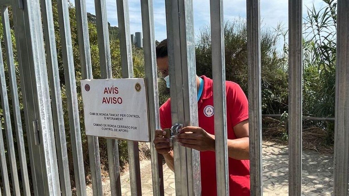 """Cerrar la playa por aforo excesivo en Blanes: """"Prefiero seguridad a que se amontone la gente"""""""