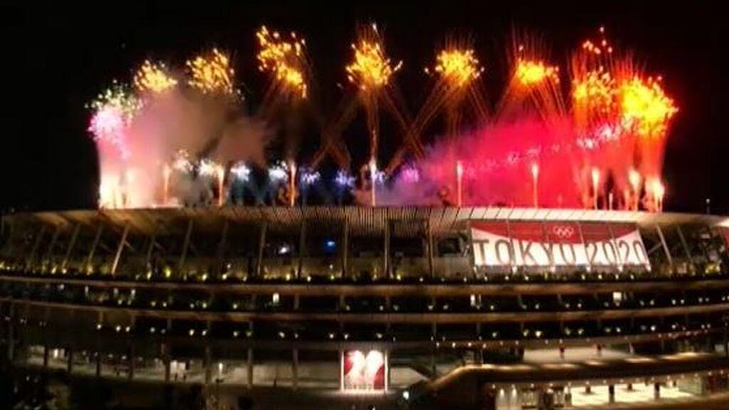 Tokio despide los Juegos Olímpicos con espectaculares fuegos artificiales