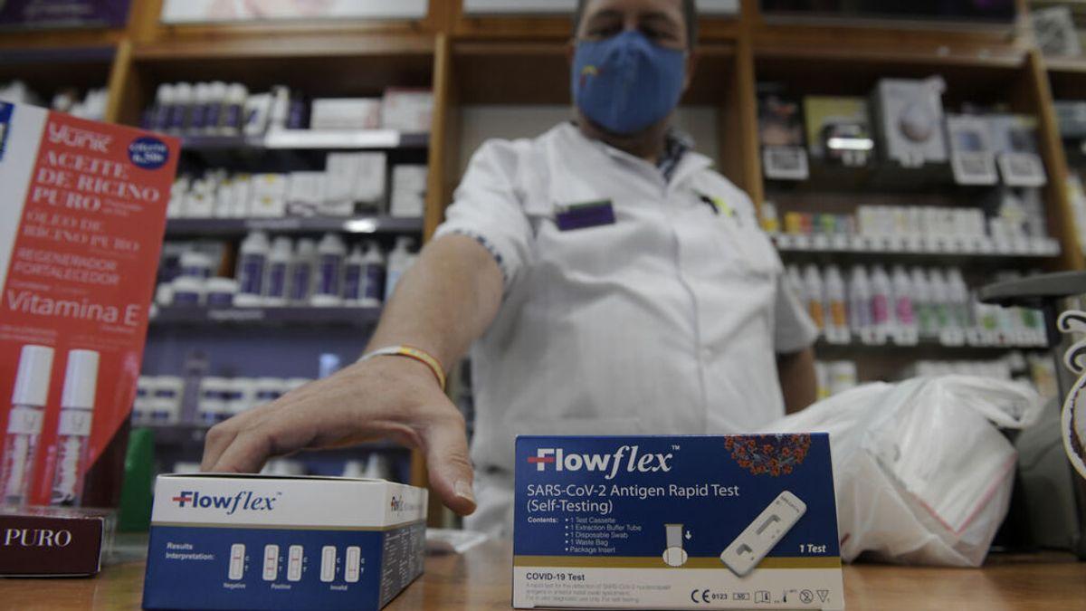 Farmacias venden test antígenos