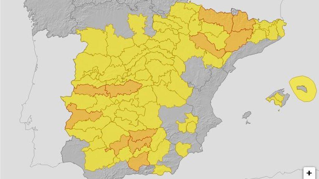 mapa tiempo miércoles