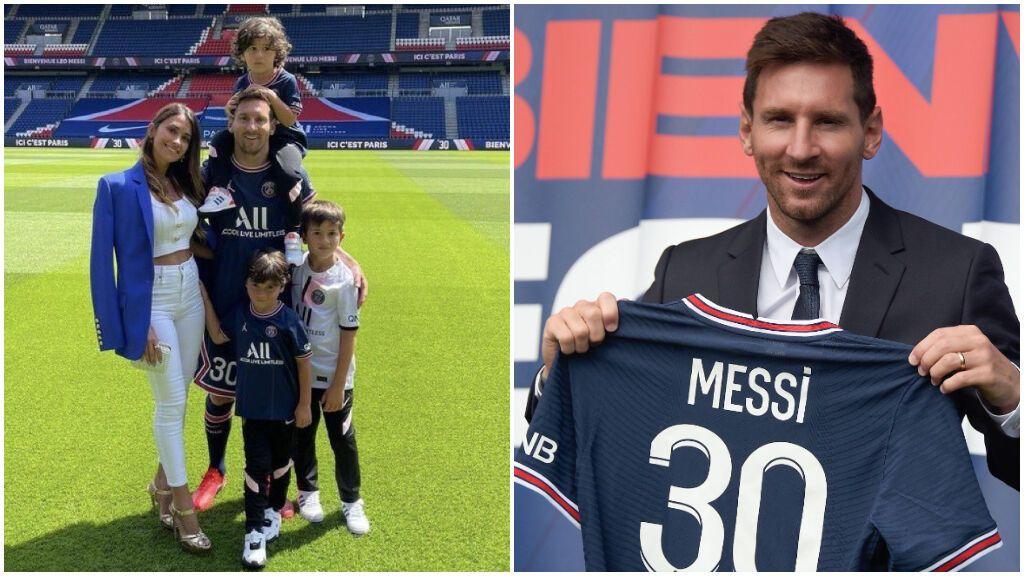 """Messi, presentado en el PSG: """"Mi salida del Barcelona fue dura pero ahora mi felicidad es enorme"""""""