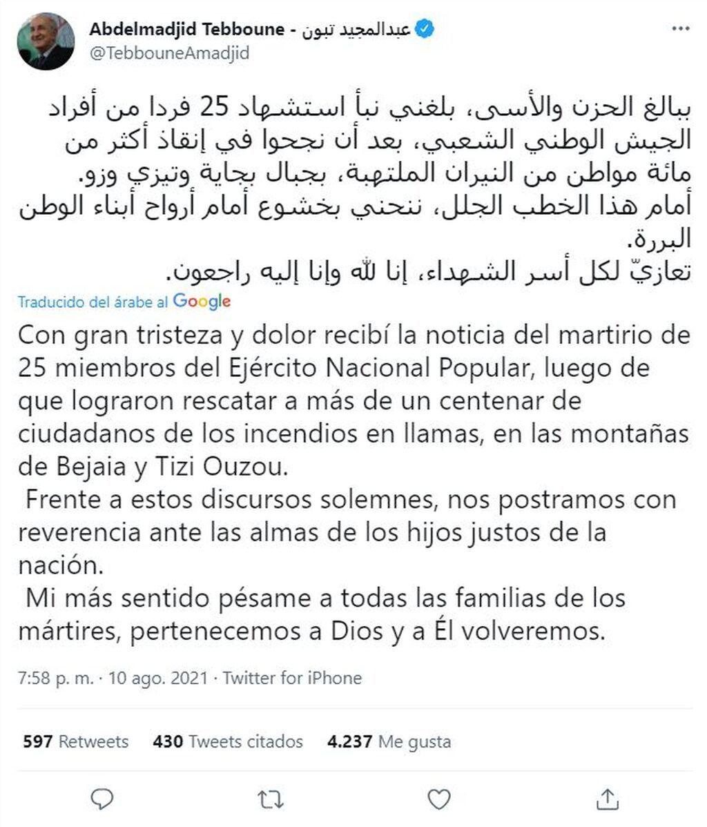 tuit presidente de argelia