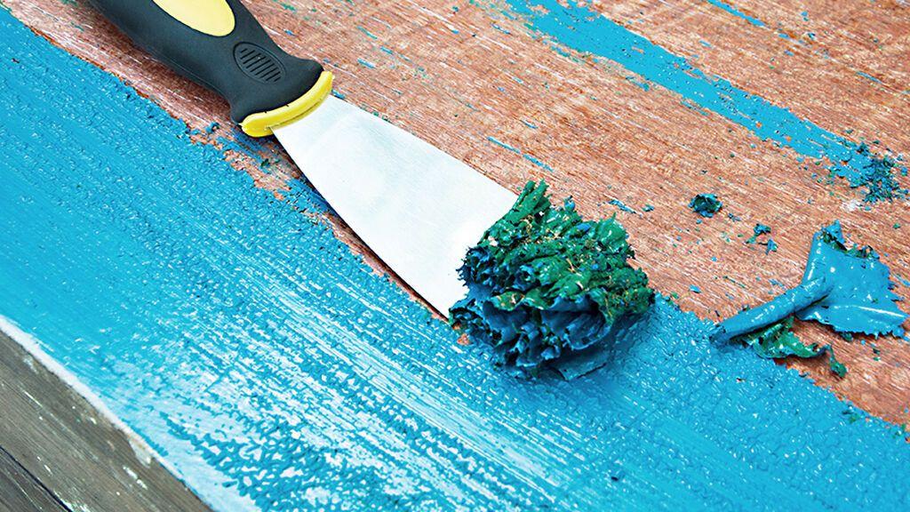 Tendrás que saber qué tipo de pintura ha caído en el suelo.