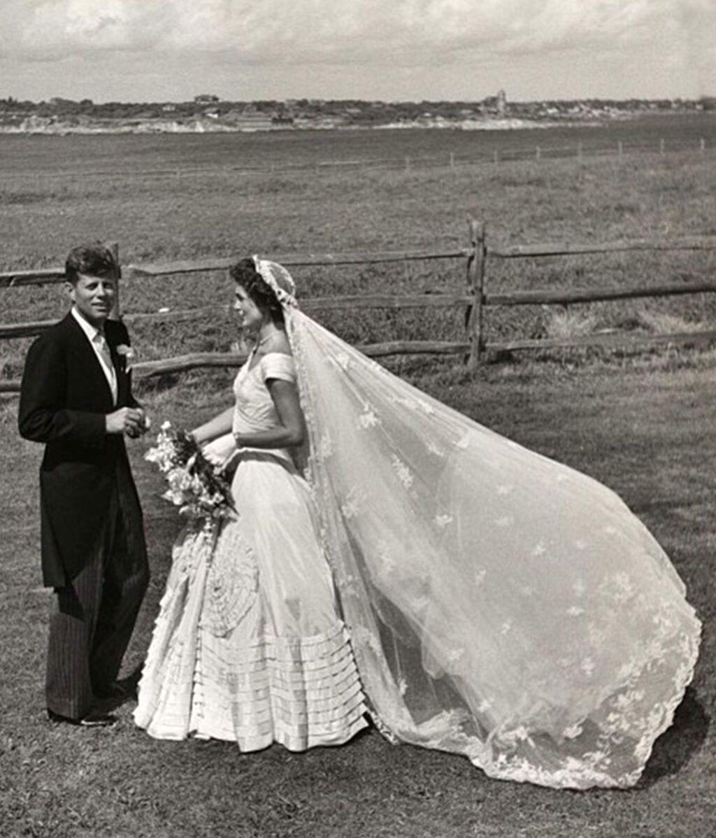 El vestido de novia en su boda con JFK