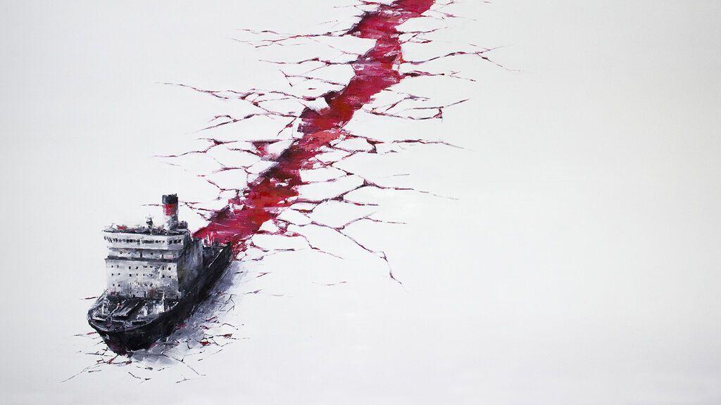 Obra del artista Pejac 'Wound'