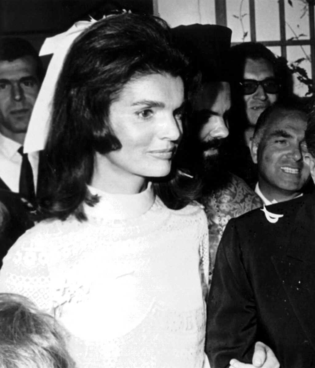 Vestido de novia en la boda con  Aristotles Onassis