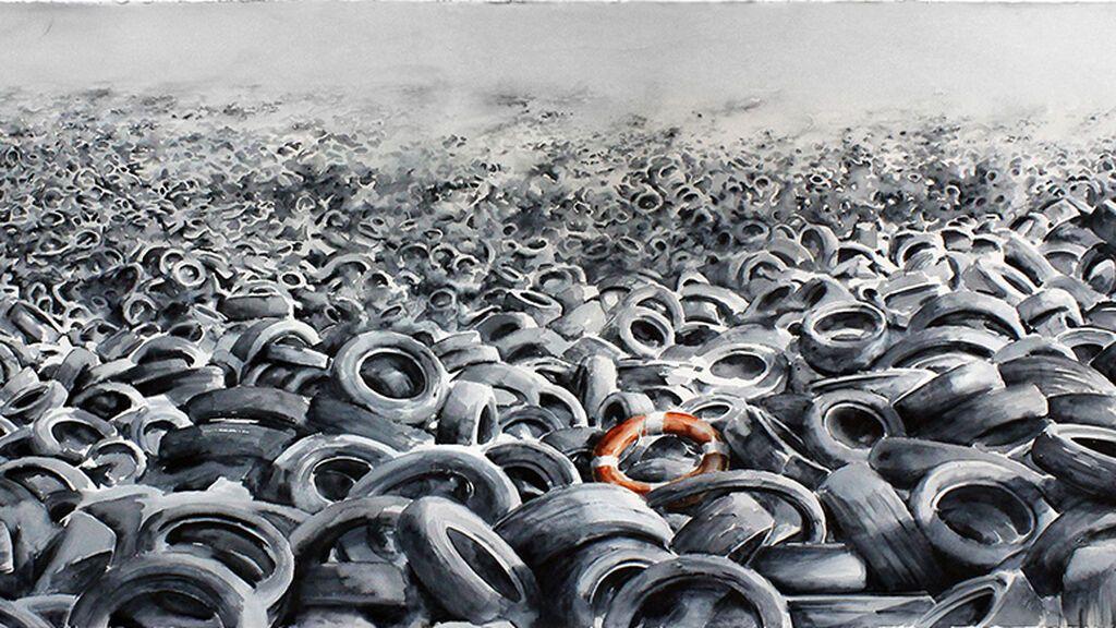 Obra 'Heavy Sea' del artista Pejac