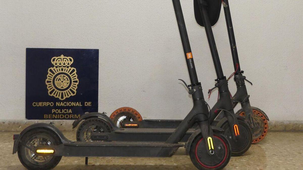 Detenidas cuatro personas  por robar patinetes, móviles y pasaportes a turistas y residentes en Benidorm
