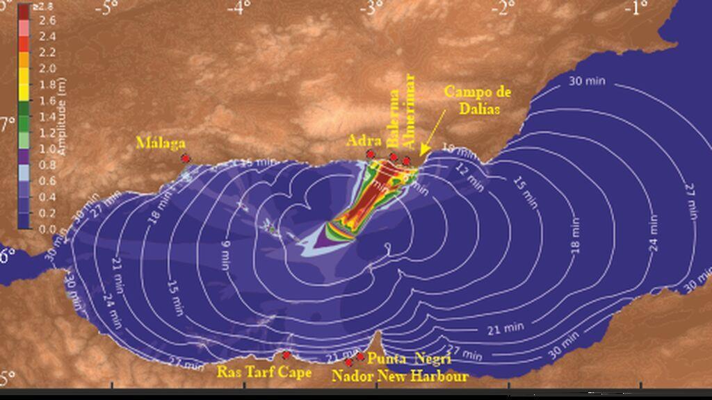 Almería, Granada y Málaga podrían verse afectadas por un tsunami y tener 21 minutos para reaccionar