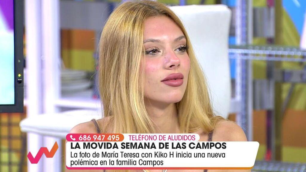 Alejandra Rubio habla claro sobre su abuela y Kiko Hernández.