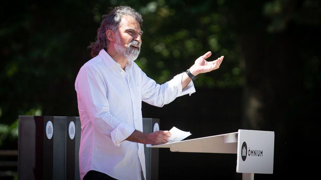 El presidente de Òmnium Cultural, Jordi Cuixart, durante el acto de celebración de los 60 años de la entidad