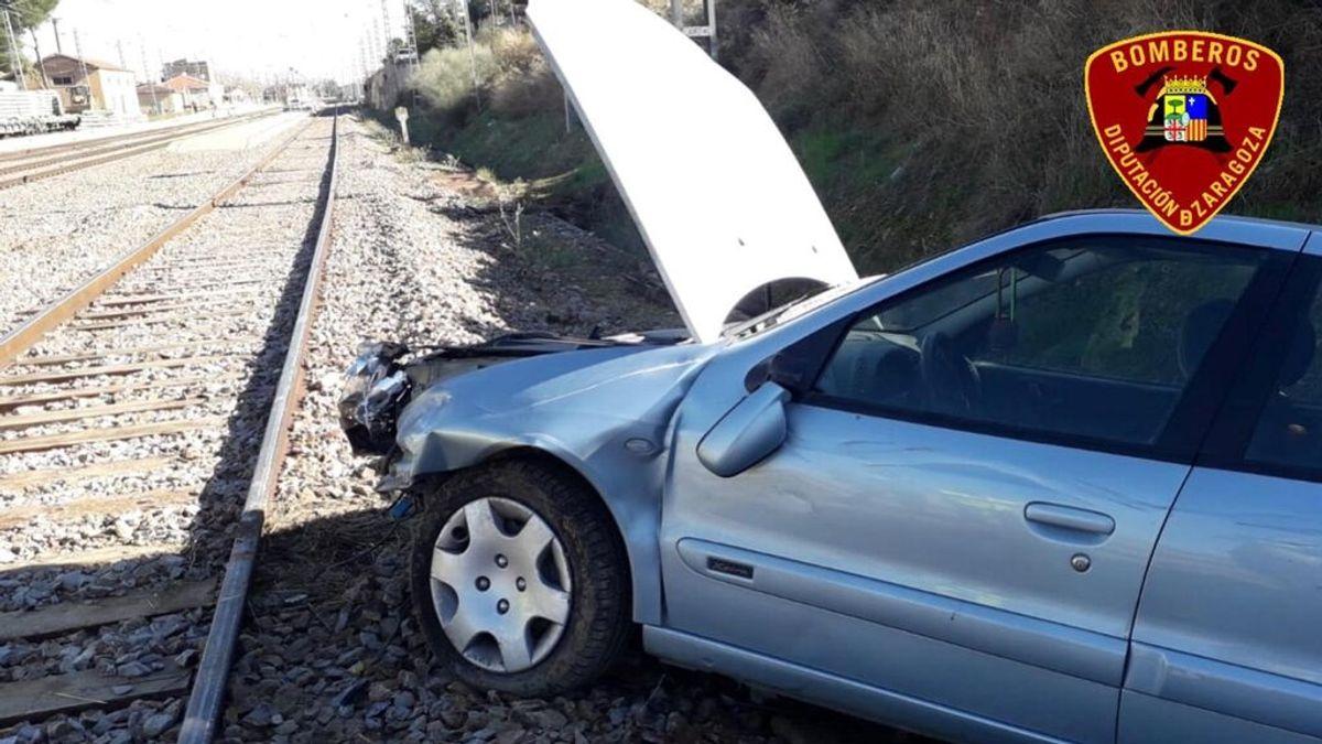 Mueren dos personas tras caer su vehículo a una balsa de riego en Zaragoza