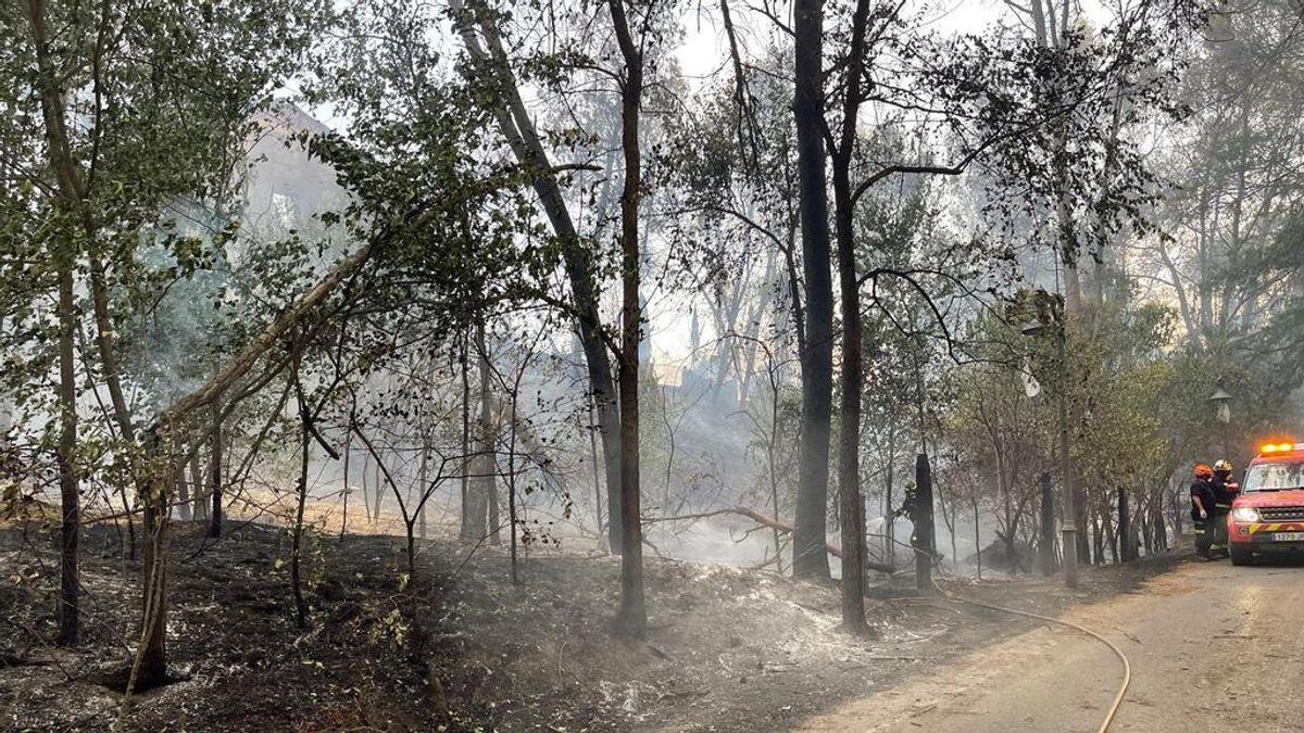 Estabilizado y perimetrado el incendio de Batres, en Madrid, tras el desalojo de varios vecinos