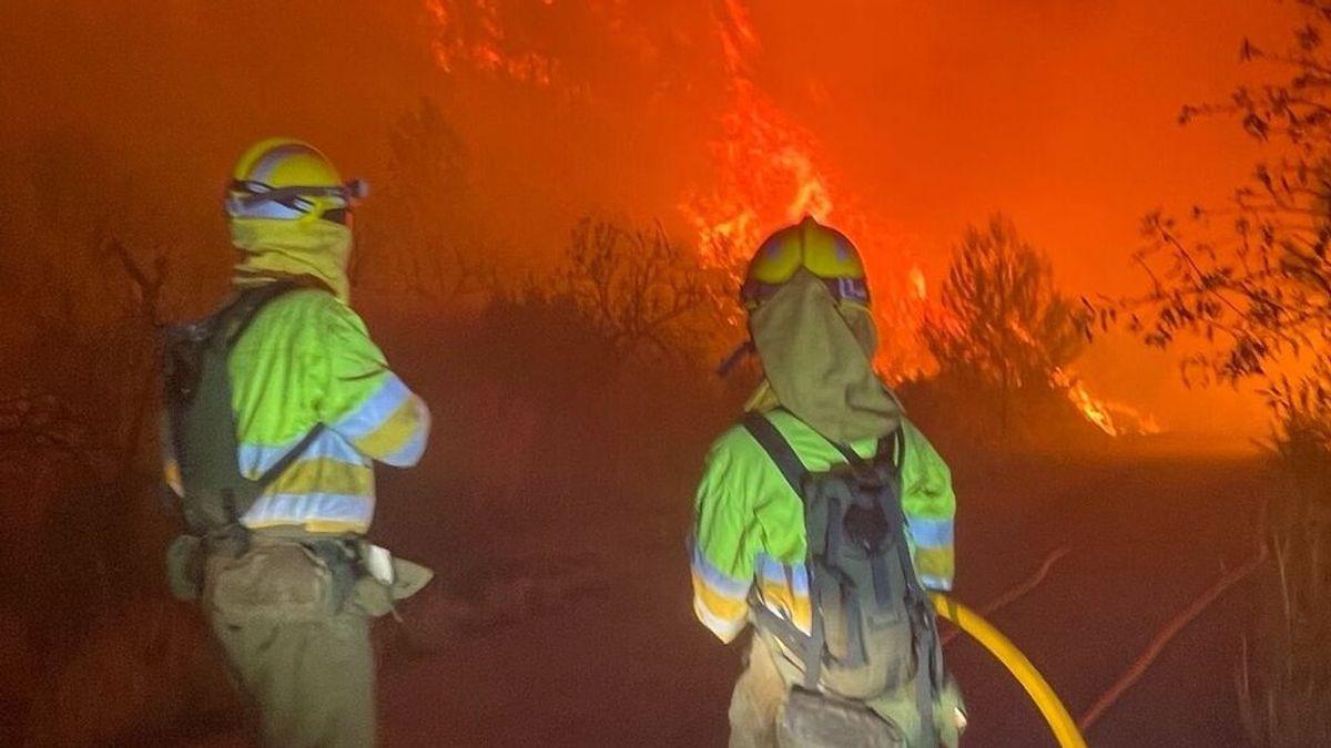 Incendio forestal de Azuébar, en Castellón