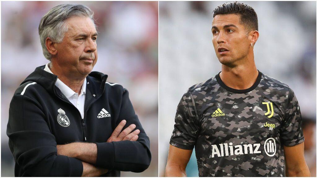 Carlo Ancelotti mira hacia adelante en el banquillo del Real Madrid.
