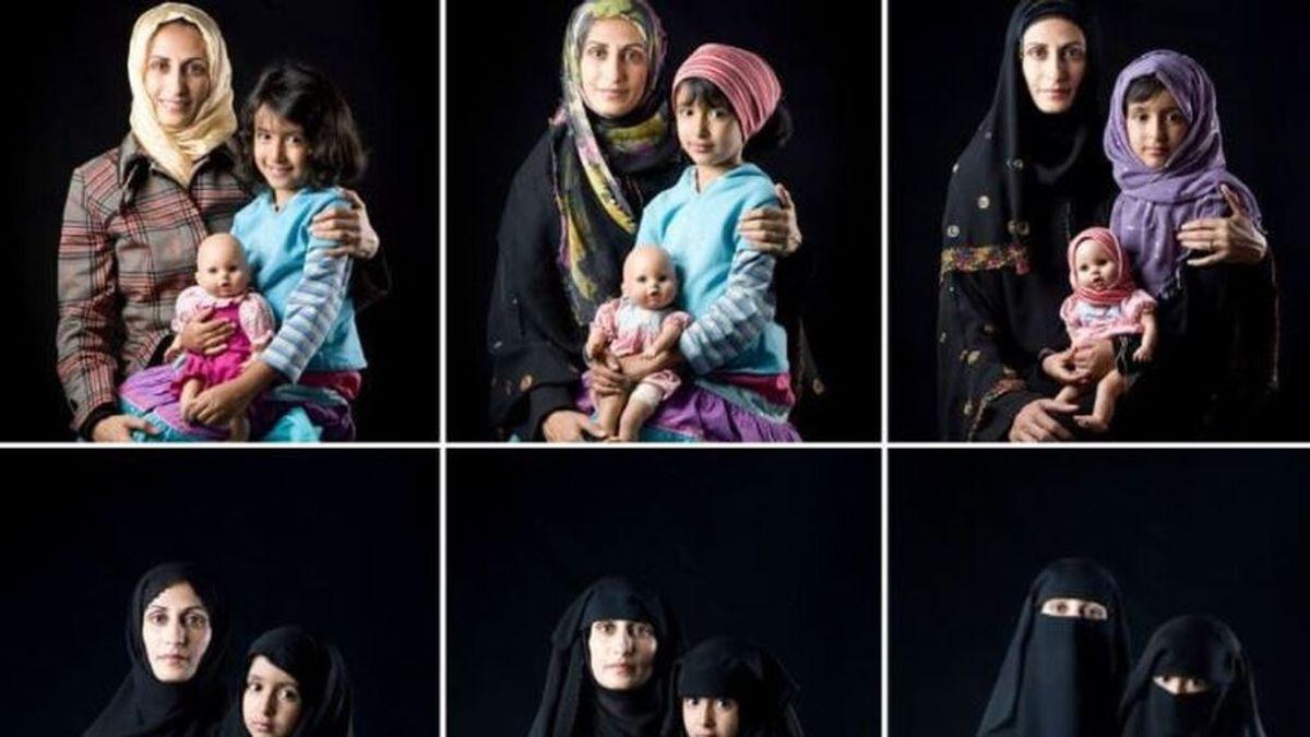'La desaparición de la mujer', la obra de Boushra Almutawakel que ilustra el control Talibán