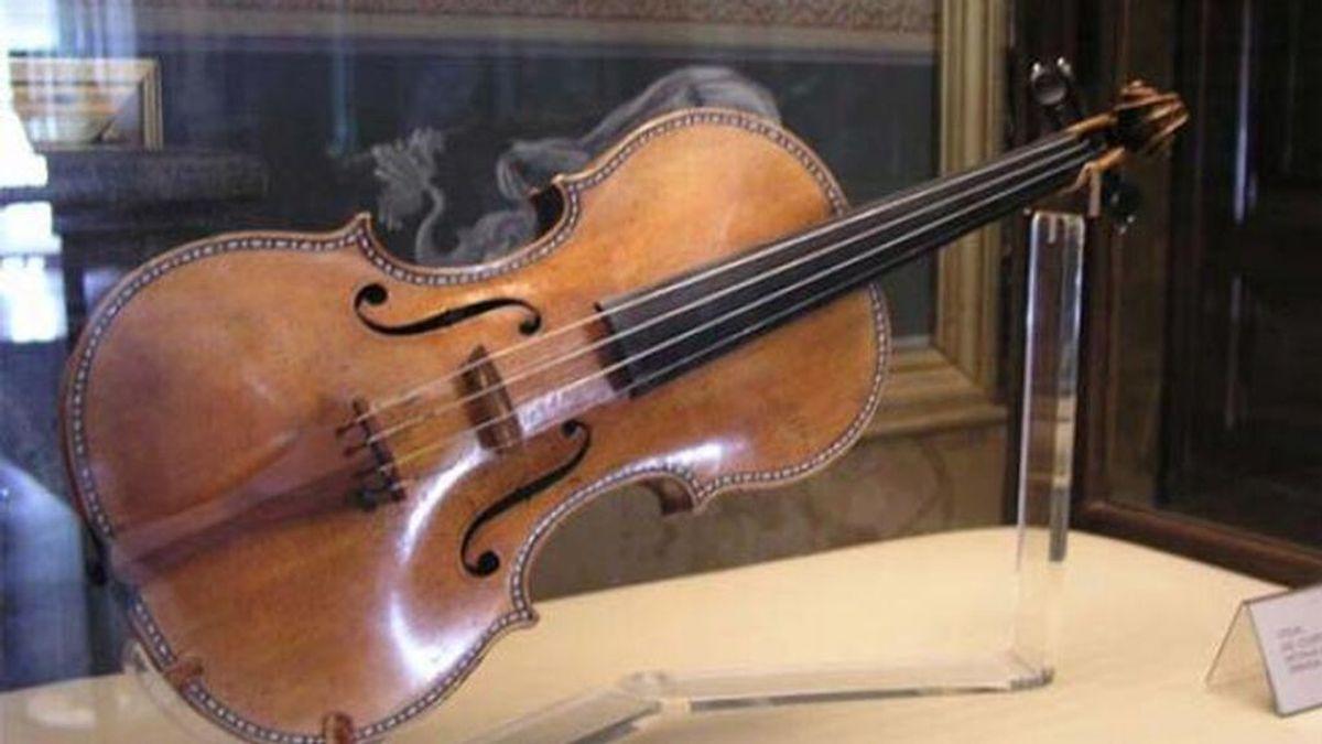 Violín Stradivarius expuesto