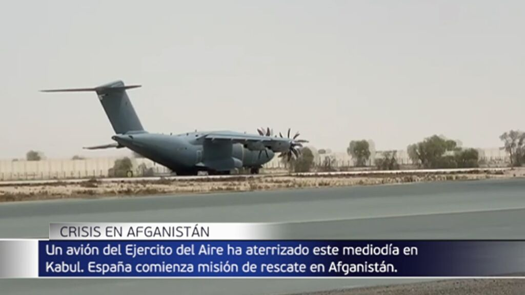 Despega de Kabul el primer avión con el primer grupo de españoles y afganos evacuados