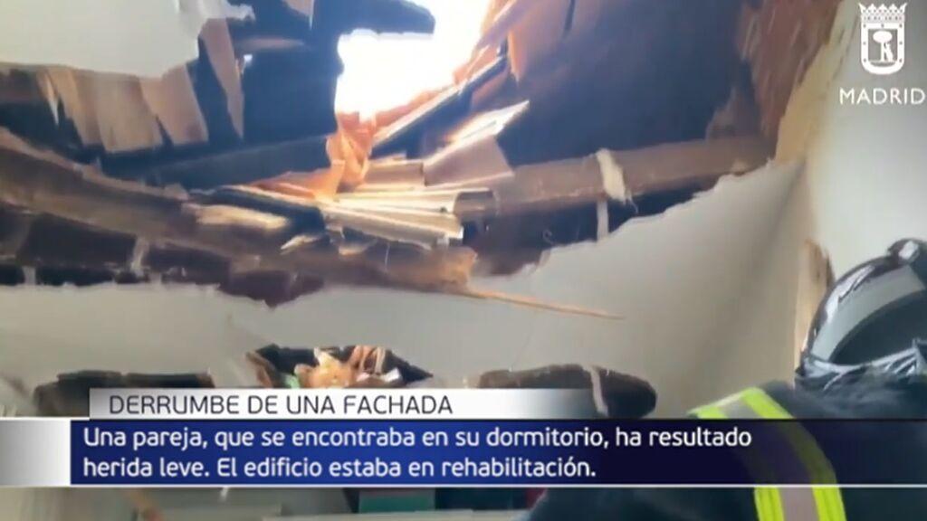 Se derrumba una fachada interior en un edificio en la calle Eloy Gonzalo, Madrid: hay varios heridos