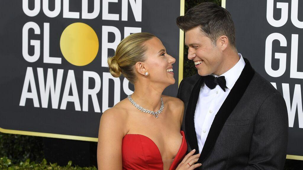 Scarlett Johansson y Colin Jost