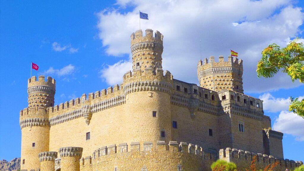 Castillo de Manzanares el Real, cerca de Madrid.