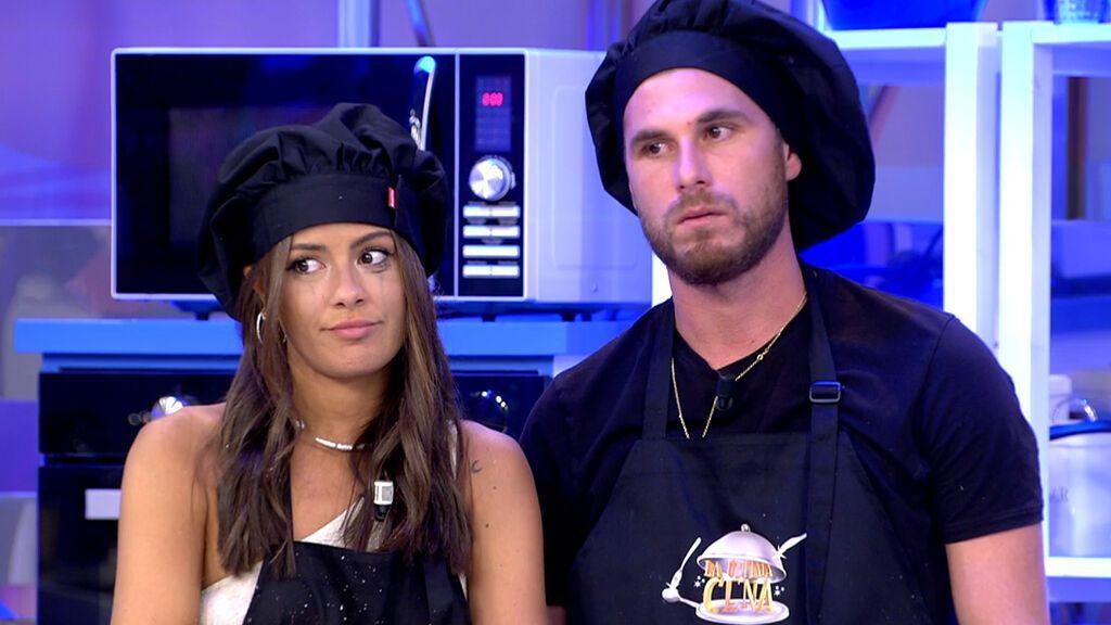 Tom Brusse y Melyssa Pinto, agobiados por los caracoles La última cena Temporada 2 Programa 15