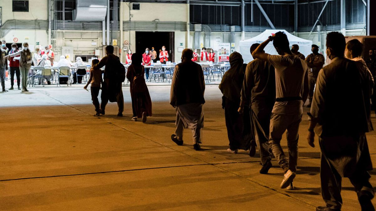 Refugiados afganos llegando a Torrejón de Ardoz