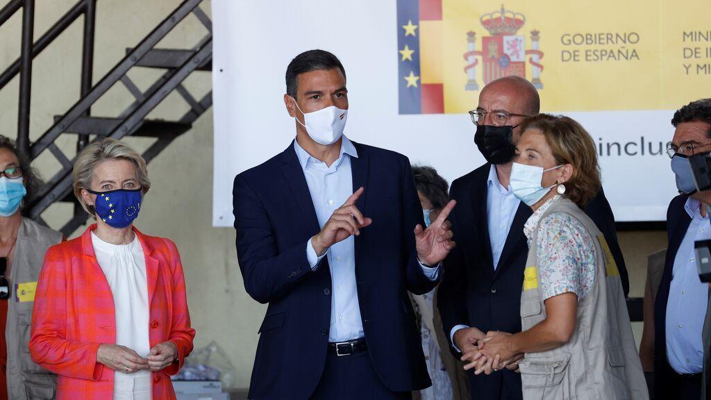 Sánchez visita junto a Von der Leyen, Michel y Borrell el centro de acogida de afganos en Torrejón de Ardoz