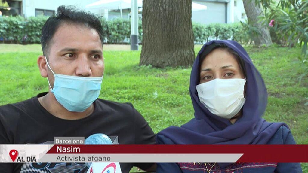 La suerte de un matrimonio afgano: consiguió llegar a España hace un mes