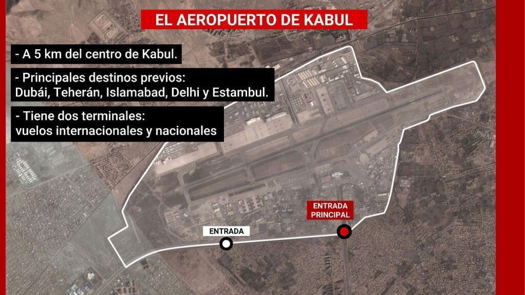 El aeropuerto Hamid Karzai de Kabul