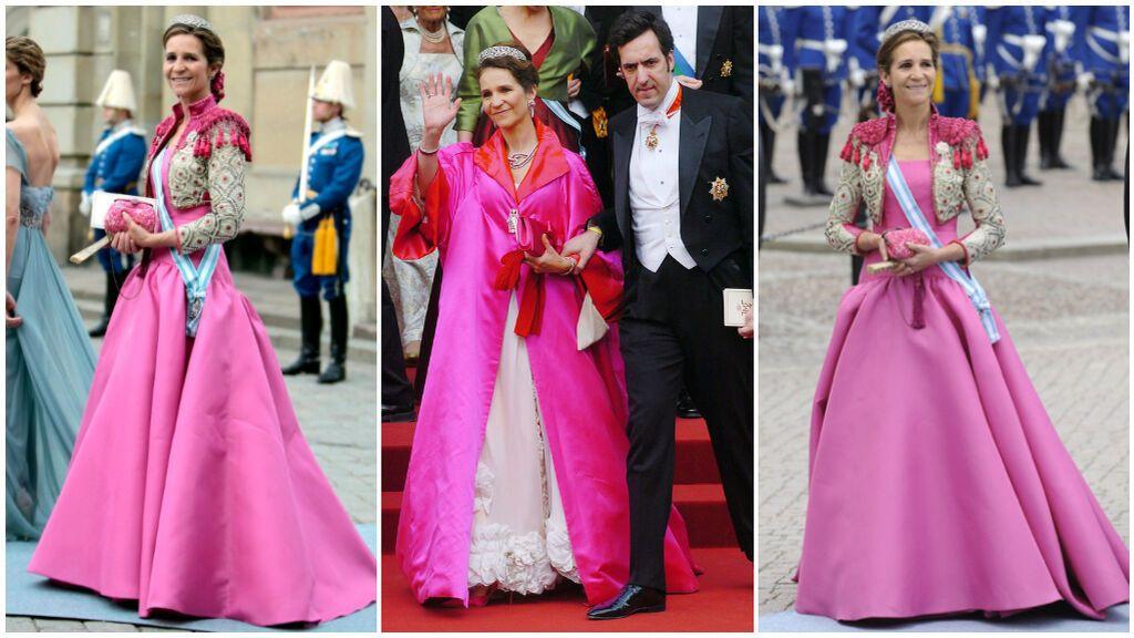 La infanta Elena marcó tendencia con su diseño de Lorenzo Caprile en la boda de Mary de Dinamarca.