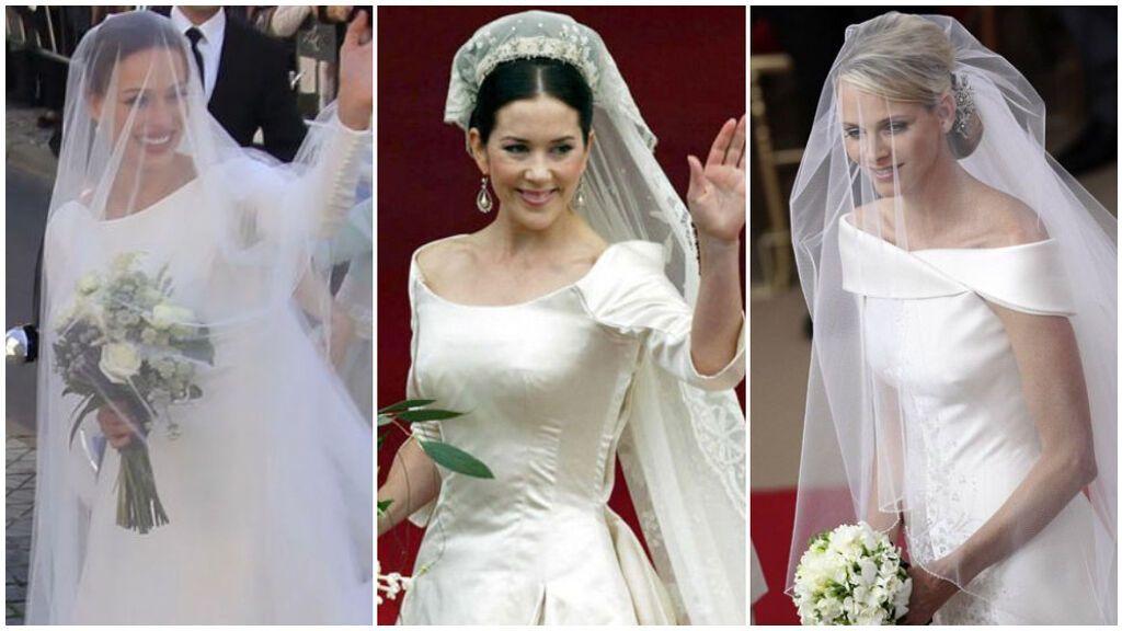 Recogidos de novia con velo inspirados en nuestras famosas: de Eva González y Mary de Dinamarca a Charlene de Mónaco.