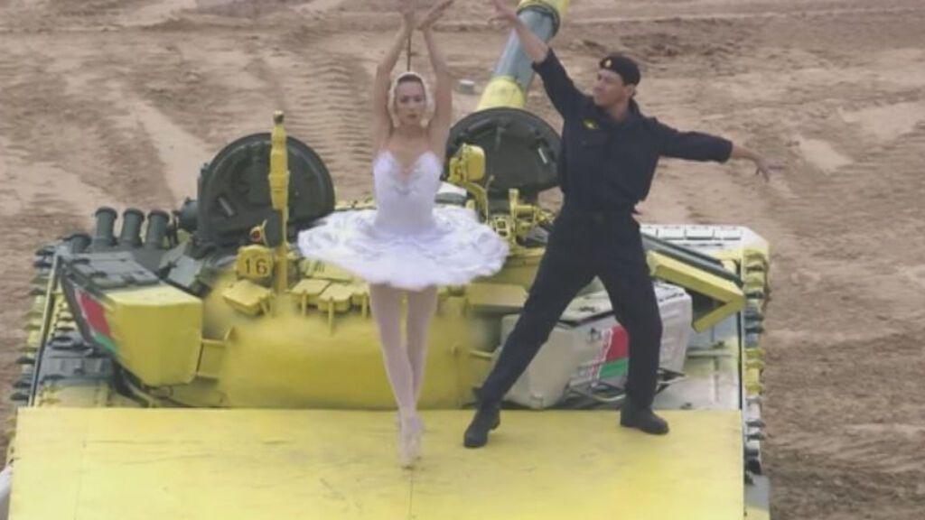Danzando con tanques: el ejército bielorruso baila al son de Tchaikovsky en las Olimpiadas militares