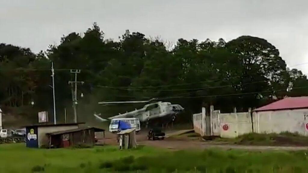 Accidente de un helicóptero del Ejército mexicano
