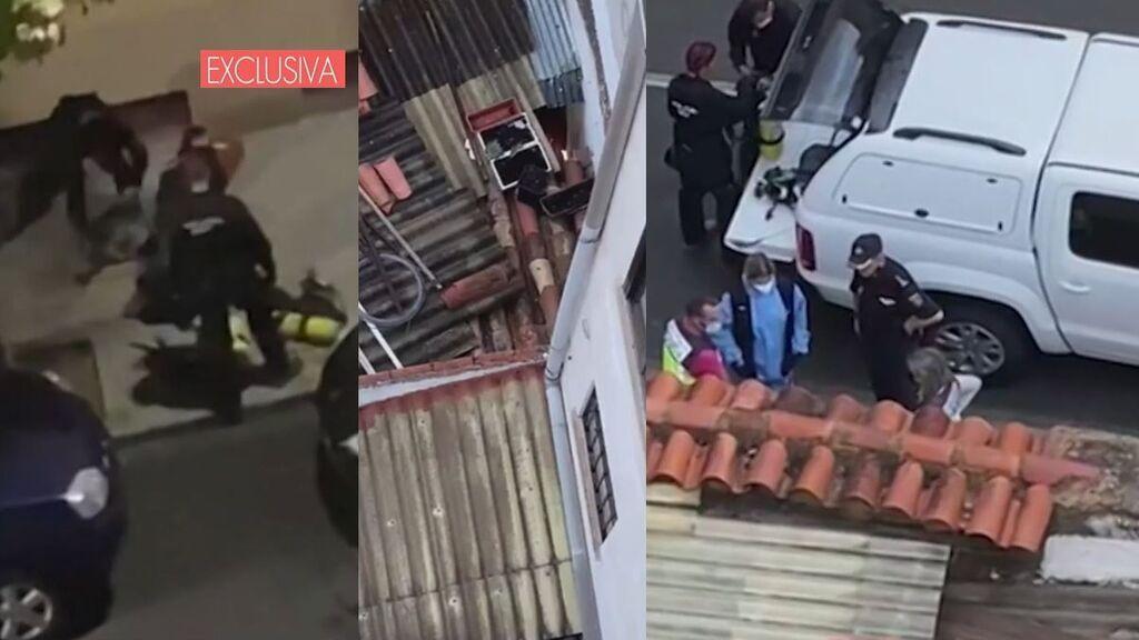 Las imágenes de cómo encontraron el cadáver de la vendedora de la ONCE