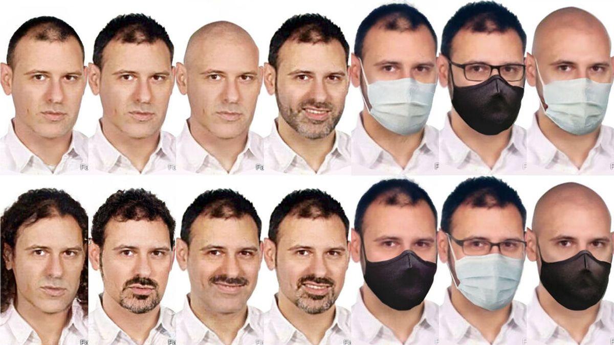 Recrean los rostros que el presunto parricida de Barcelona puede adoptar para evitar su detención